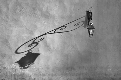 Lantern with shadow at Marrakech