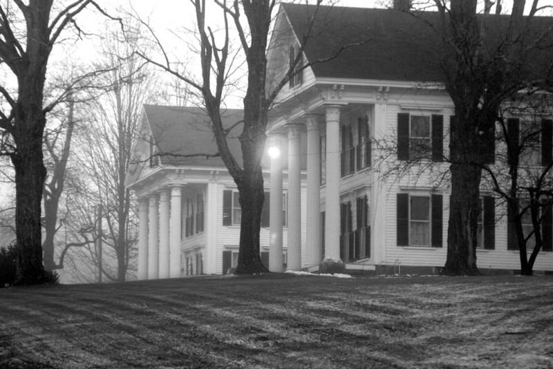 Dutton Mansion overlooking the town of Hillsboro.