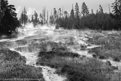 Steamy river Near Midway Geyser Basin
