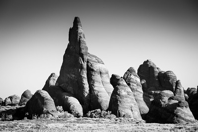 Arches NM, Fins near Sand Dune Arch