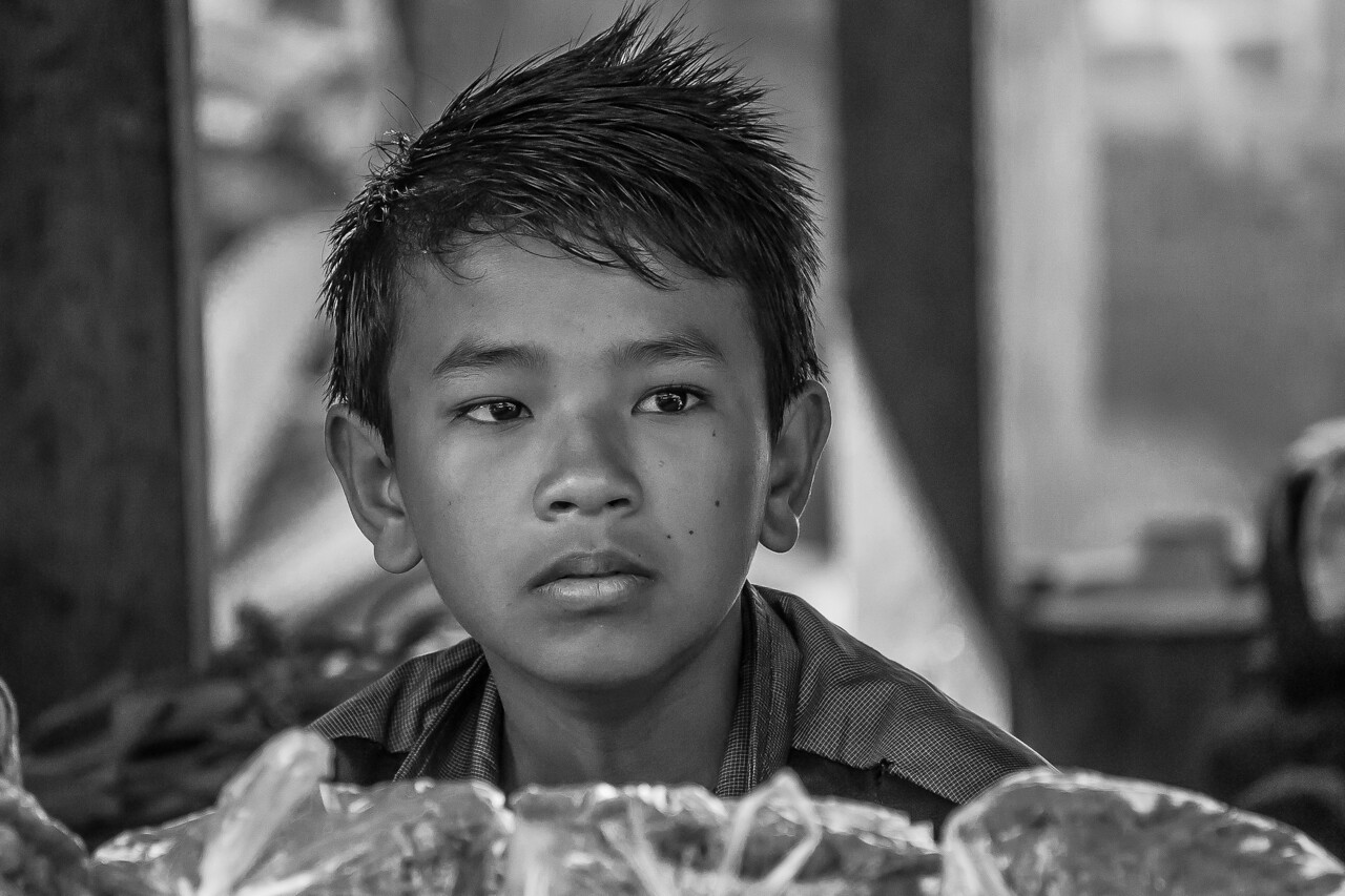 Young boy at the market