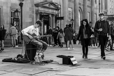 Bath Busker @LocoSounds outside the Bathhouse 24th March 2019