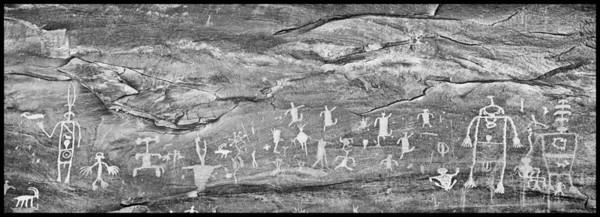 Petroglyph panel, Sand Island - East Cliffs