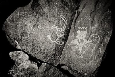 Rio Grande Style Petroglyph, Boca Negra Canyon trail Petroglyph National Monument, New Mexico