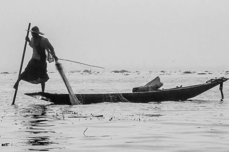 Intha fisherman on Inle lake.