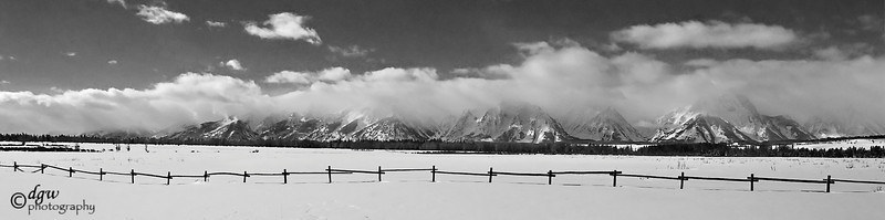 A view near Cunninghams cabin, a storm over the Teton's.