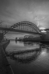 Black And White Tyne Bridge