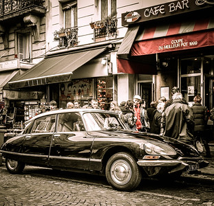 Old Citroen Montmatre Paris France
