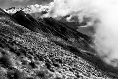 Weather closing in half way up Roys Peak Track