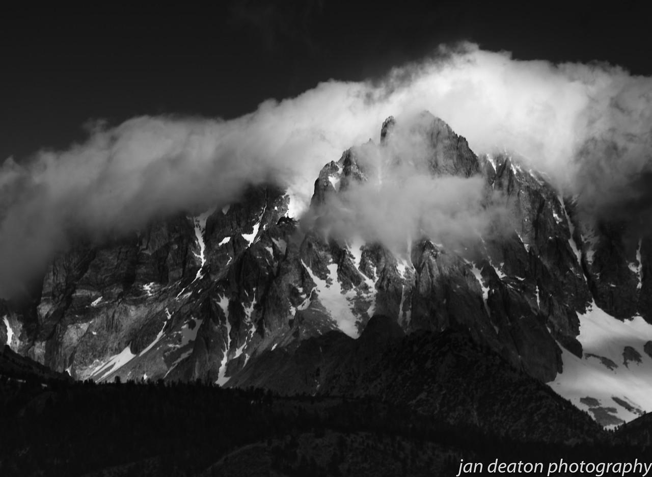 Cloudy Peaks/B&W