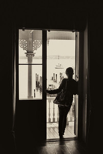 Girl in the doorway