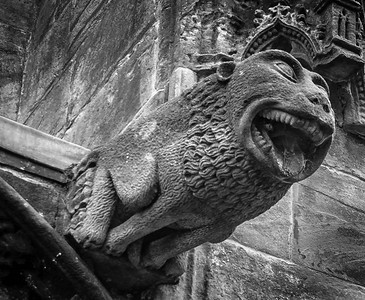 Rosslyn Chapel Scotland Gargoyle water spout