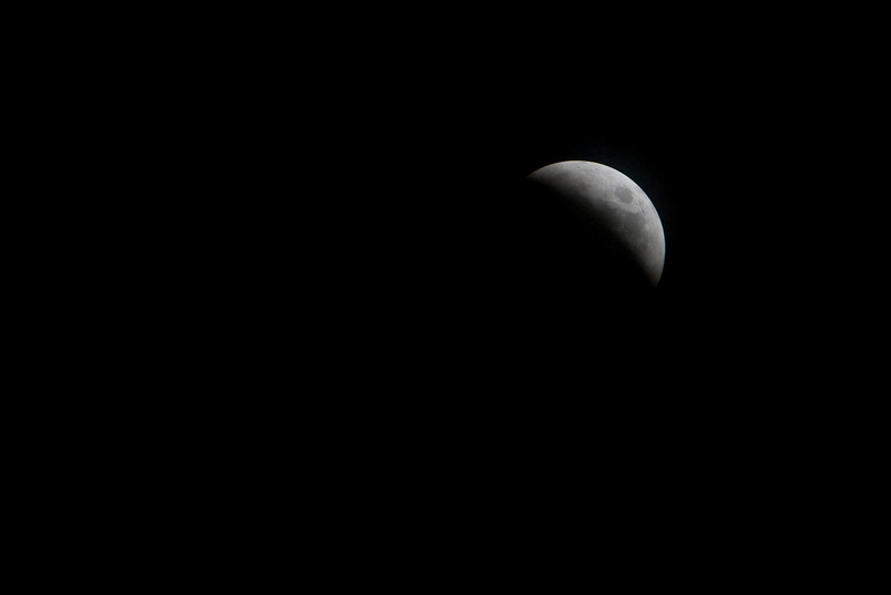 Beginning of Total Lunar Eclipse - Oct 27, 2004