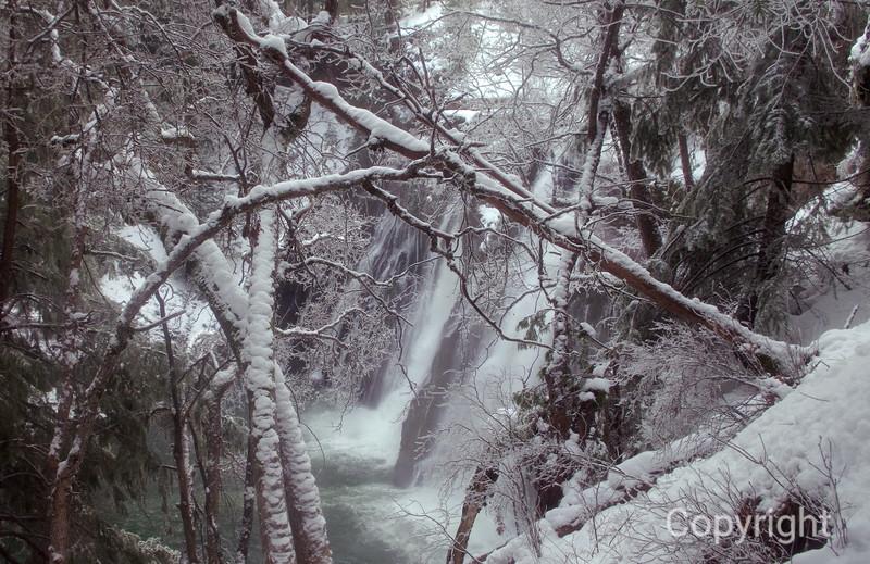 McBurney Falls in Winter, California