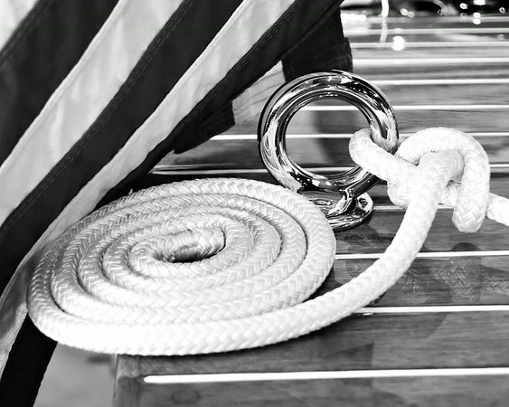 Nautical Rope, Black & White