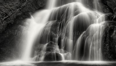 Waterfall Detail BW 1