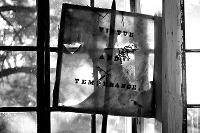 Antique Window Pane with Saying