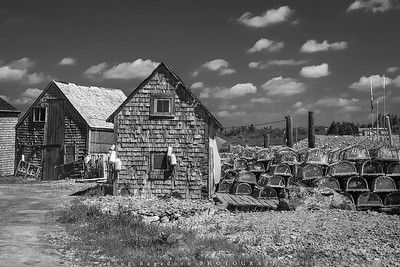 Sheds and Traps (#0715 B&W)