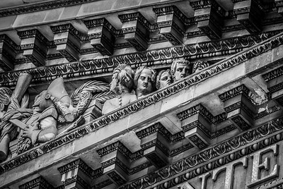 Sculpted heads Paris France