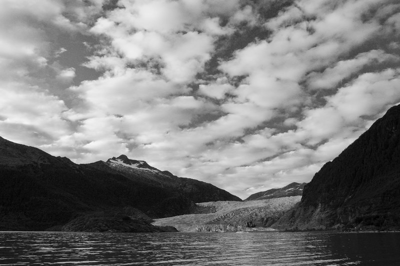 clouds over Mendenhall Glacier