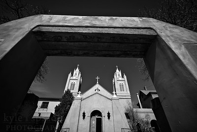 A church in the historic part of Albuquerque, New Mexico.  Photo by Kyle Spradley | www.kspradleyphoto.com