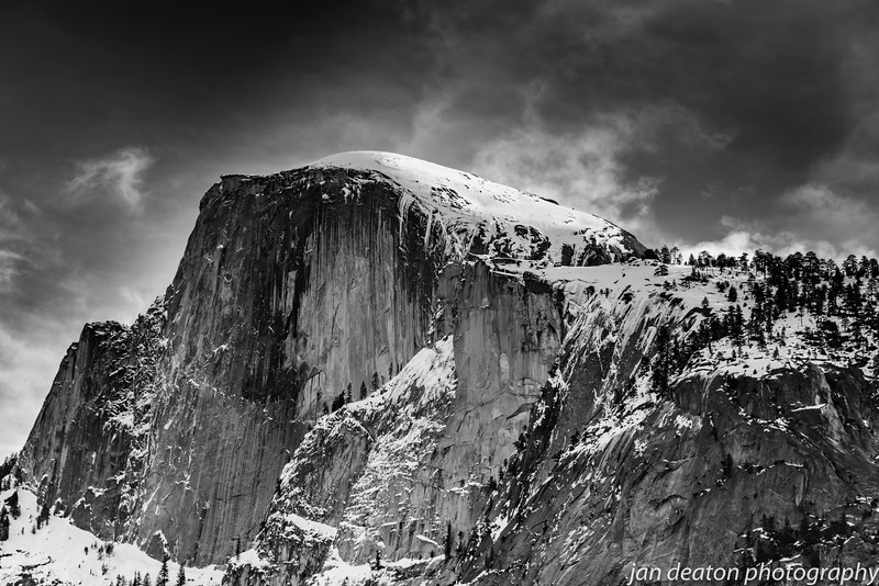 Half Dome in Winter/B&W