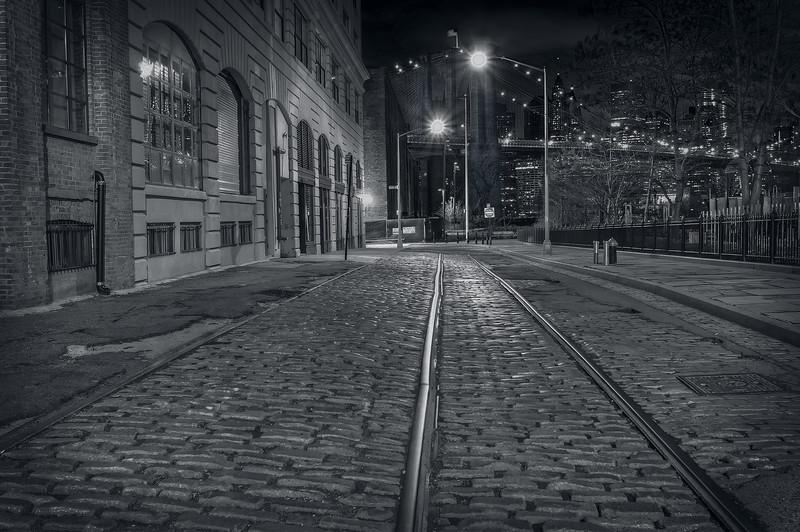Cobblestone Train Tracks