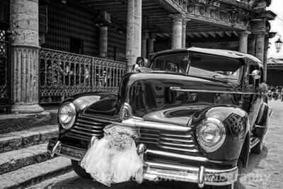 Old Hudson Sedan for Newly Weds