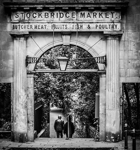 What remains Old Stockbridge Market Edinburgh Scotland