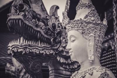 Thai Buddha Statue with Naga