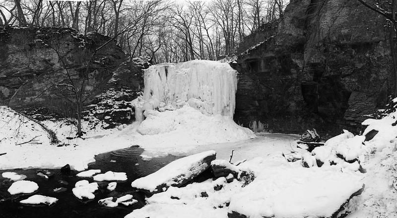 Winter at Hayden Run Falls, Columbus, OH