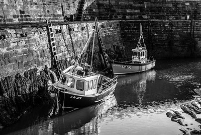 Cove harbour East Lothian Scotland