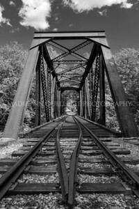 Glen Train Trestle in B&W