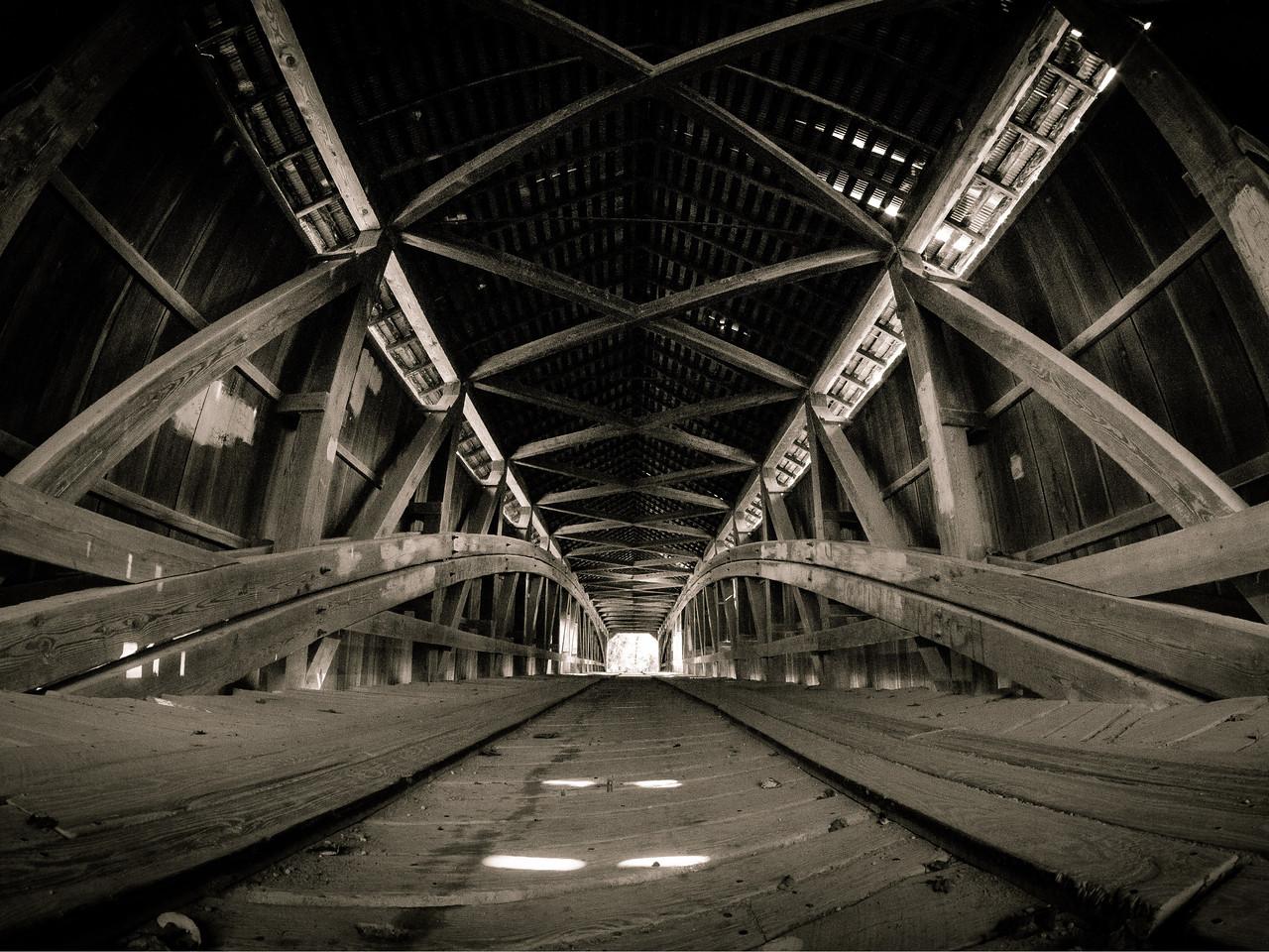 Floor Level in Cox Ford Covered Bridge - Turkey Run