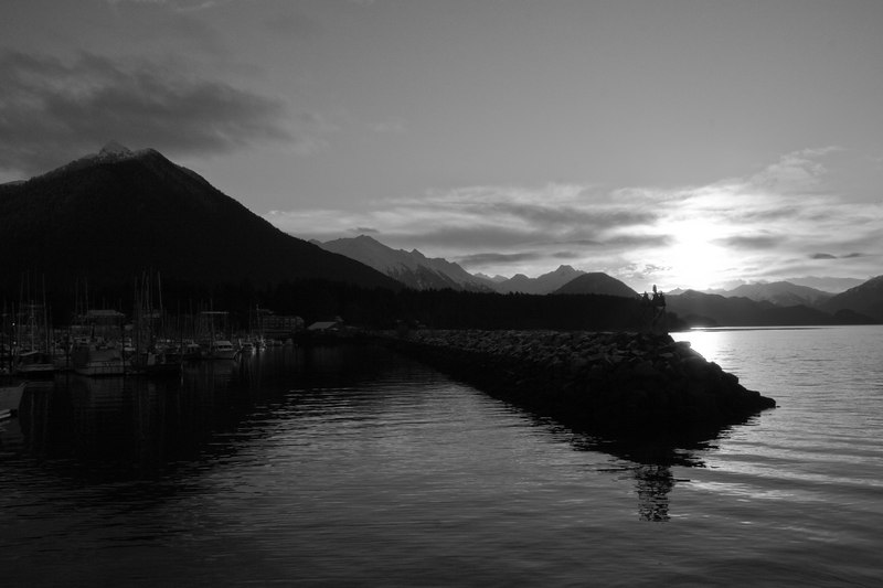 Sitka Harbor sunrise