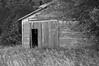 Abandoned storage building/barn near Grand Island Nebraska, Black and White Version