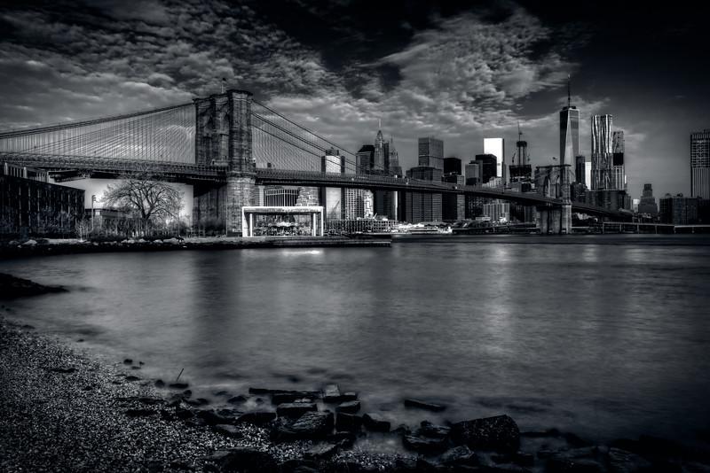 Ominous Clouds Over Brooklyn Bridge