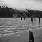old piers and pumphouse, Gastineau Channel