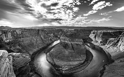 Horseshoe Bend black & white