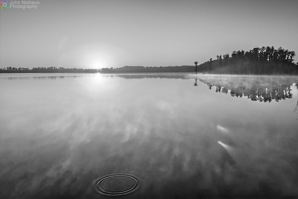 Clermont Morning (B&W)