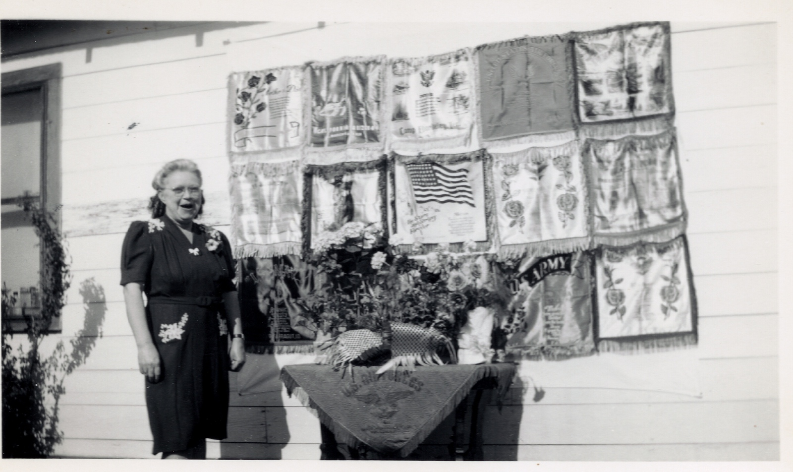 Kate Lobb with Pillow Cases from Sons in Service