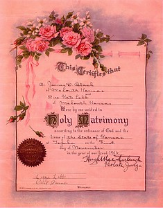 Dee and Kate Black Marriage Cert0001