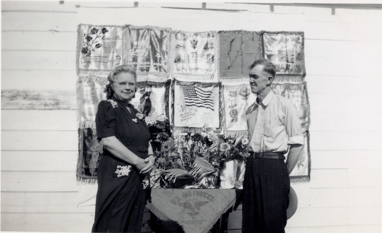 Kate Black, James D  Black with Pillow Cases WWII