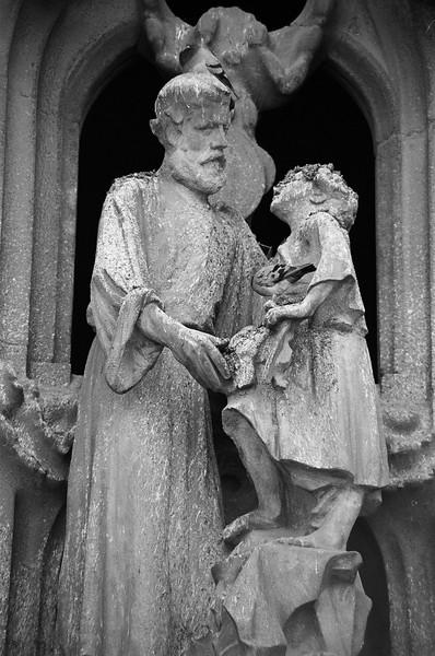 La Sagrada Familia detail, Barcelona Spain 2003