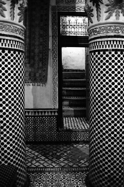Interior carpet shop, Fes, Morocco 2003