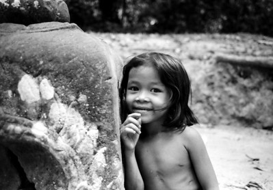 Girl at Temple, Siem Reap