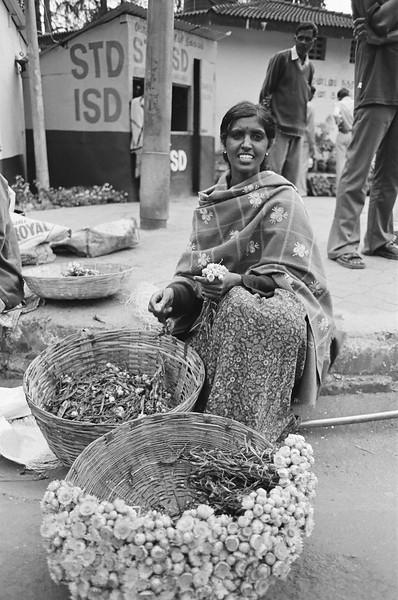 Flower seller, Ooty, India 2006