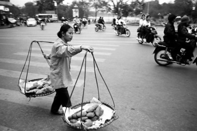 Food Seller Hanoi, Vietnam