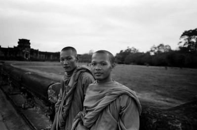 Monks at Angkor Wat Temple, Siem Reap