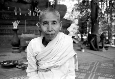 Woman at Banyan Temple, Siem Reap